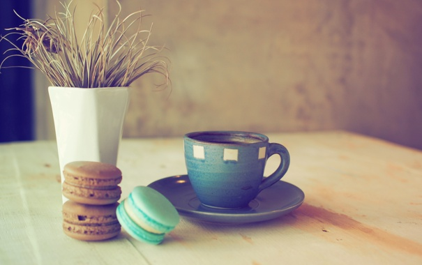 Фото обои colorful, печенье, десерт, cup, sweet, coffee, dessert
