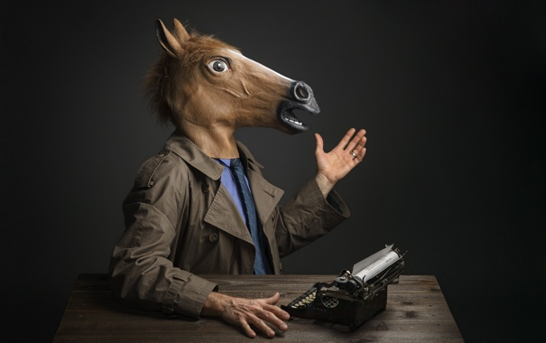 Фото обои лошадиная, маска, голова