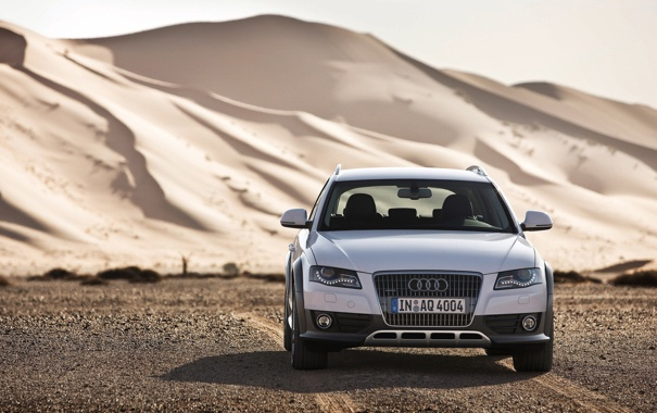 Фото обои песок, Audi, Allroad, Quattro