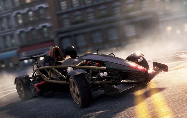 Фото обои город, гонка, погоня, спорткар, Ariel Atom, need for speed most wanted 2