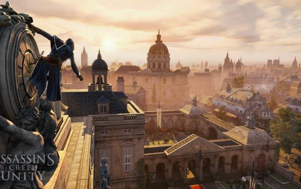 Фото обои город, париж, солдаты, франция, Assassin's Creed Unity