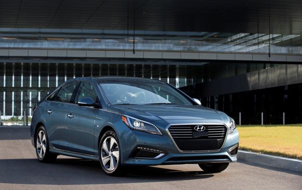 Фото обои хундай, Hyundai, PHEV, соната, Sonata, хендэ, 2015