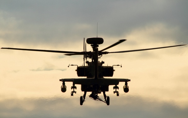 Фото обои вертолёт, Apache, ударный, WAH-64D, «Апач»