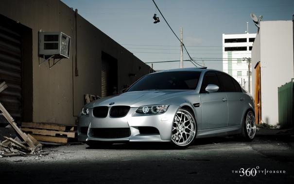 Фото обои BMW, silver, 360forged