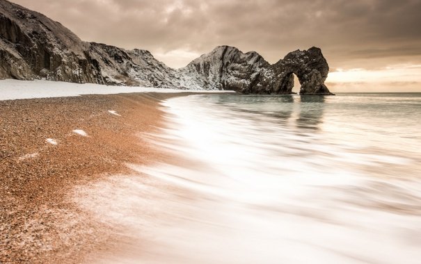 Фото обои море, скалы, берег