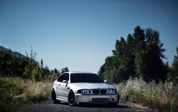 Фото обои BMW, небо, дорога, авто, машина, на улице, BMV M 3