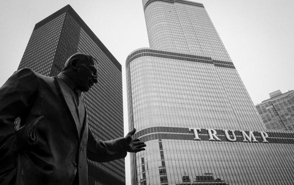 Фото обои Чикаго, USA, Chicago, Небоскреб, Памятник