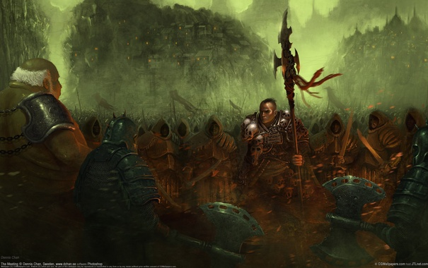 Фото обои принц, племя, войско, dennis chan
