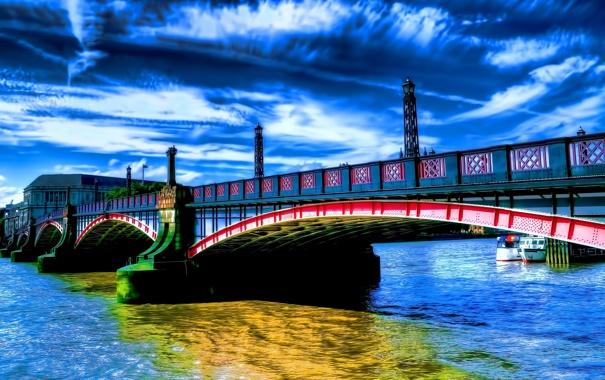 Город мост через реку  № 3713173 бесплатно