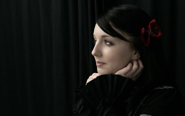 Фото обои чёрный, black, Claire Lolita