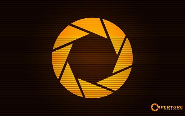 Фото обои игра, наука, круг, логотип, портал, Portal, Half-Life