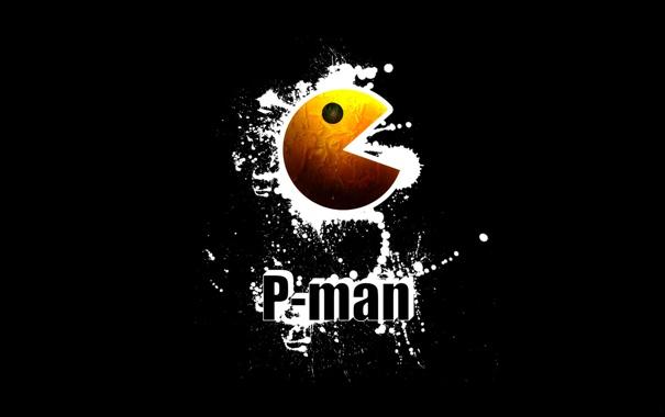 Фото обои брызги, pacman, p-man