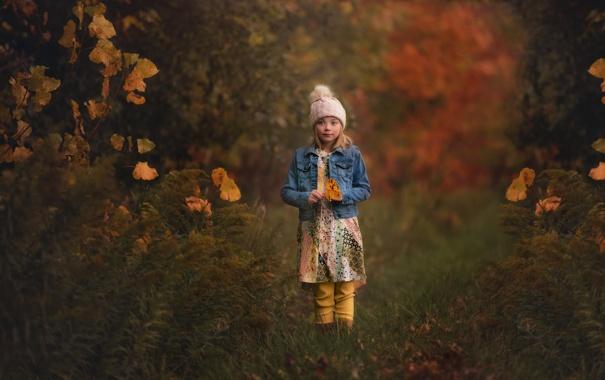 Фото обои осень, девочка, шапочка, Lorna Oxenham