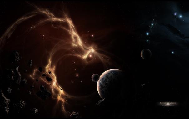 Фото обои аномалия, космическая, планеты