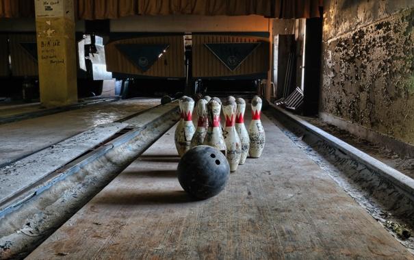 Фото обои кегли, боулинг, спорт