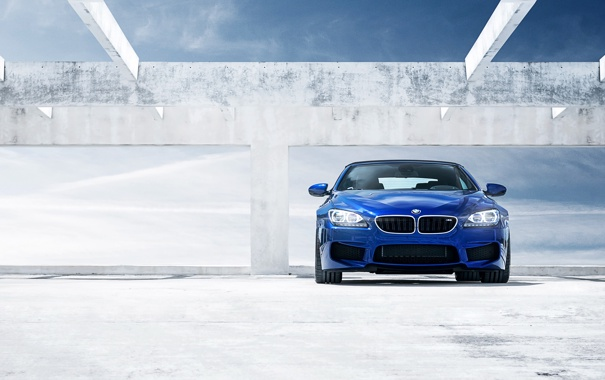 Фото обои небо, синий, бмв, BMW, кабриолет, blue, front