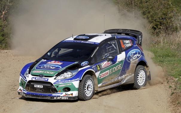 Фото обои Ford, Авто, Спорт, Скорость, Форд, Занос, WRC