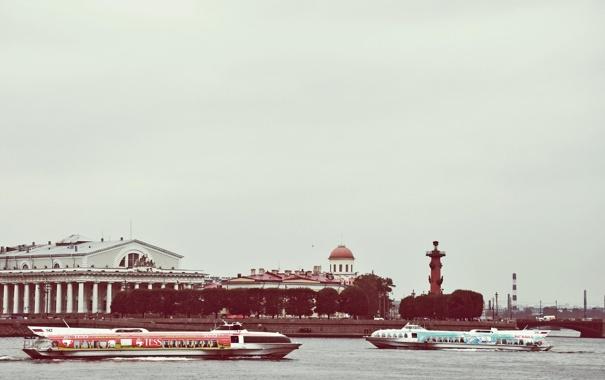 Фото обои река, Санкт-Петербург, Russia, набережная, питер, Нева, St. Petersburg