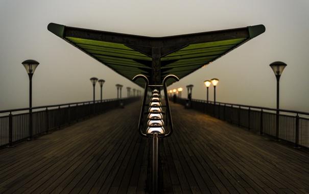 Фото обои fog, Pier, Bournemouth