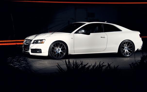 Фото обои линии, ночь, ауди, тюнинг, Audi S5