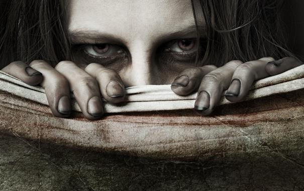 Фото обои глаза, взгляд, холст, грязные ногти