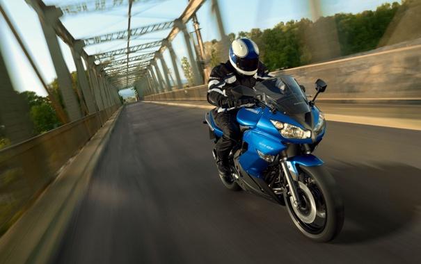 Фото обои дорога, фото, мотоциклы, Kawasaki, мосты, байки, мото обои