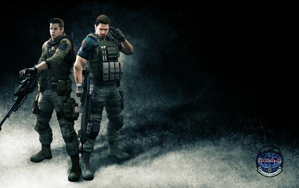 Фото обои Resident Evil 6, Chris Redfield, Крис Редфилд, напарники