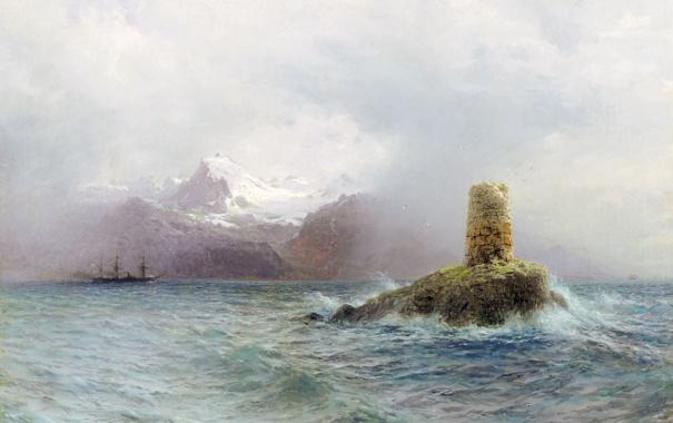 Фото обои картина, Лагорио, Лафотенский остров