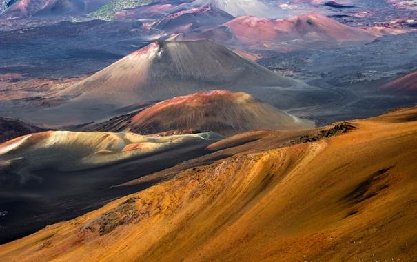 Фото обои горы, краски, цвет, склон, рельеф