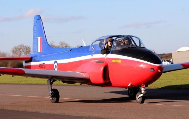 Фото обои реактивный, британский, учебно-тренировочный самолёт, BAC Jet Provost