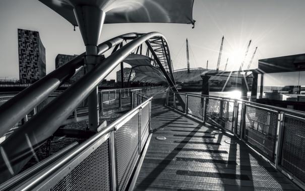 Фото обои мост, город, архитектура