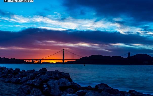 Фото обои солнце, закат, Мост