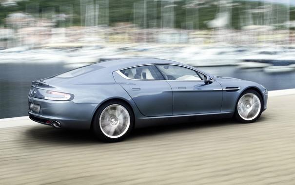 Фото обои Aston Martin, Rapide, Blue