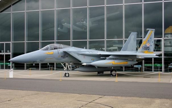 Фото обои истребитель, самолёт, музей, F-15A Eagle