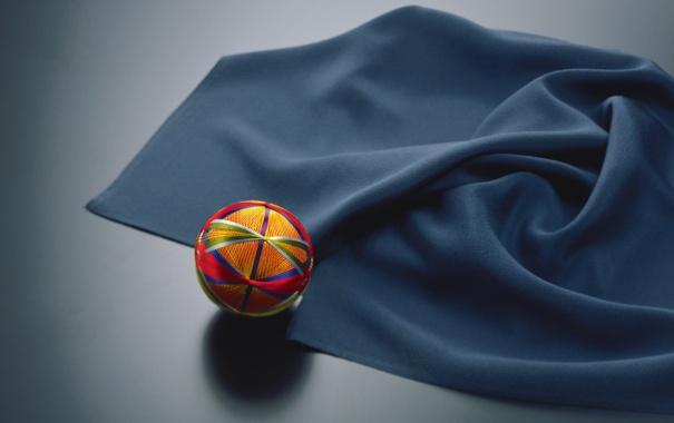 Фото обои шарик, ткань, нитки