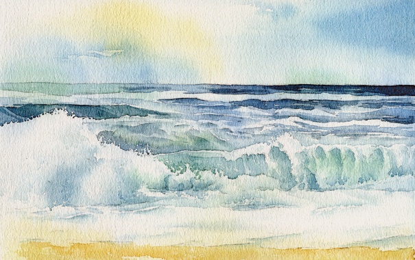Фото обои море, пейзаж, картина