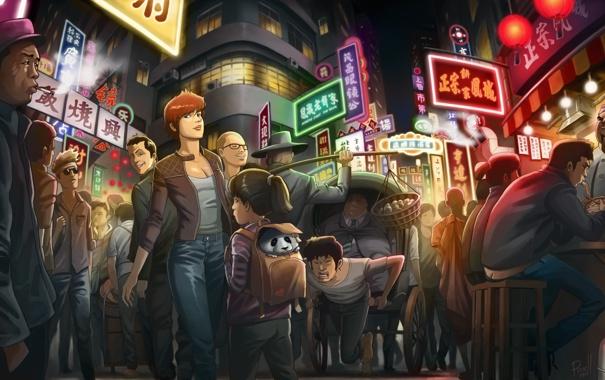 Фото обои улица, китай, народ, базар, china_street