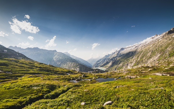 Фото обои sky, mountain, alps, switzerland, grimselpass