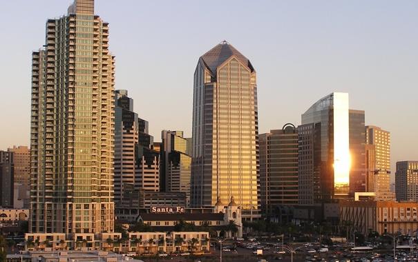 Фото обои city, город, Калифорния, USA, США, California, San Diego