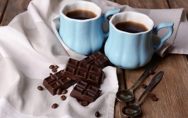 Фото обои кофе, шоколад, чашка, cup, chocolate, beans, coffee