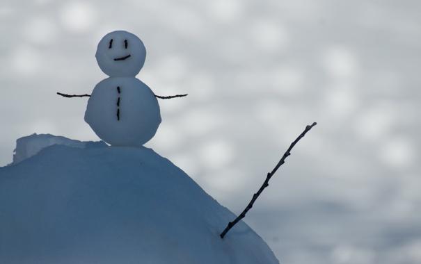 Фото обои снег, блики, снеговик, © Ben Torode