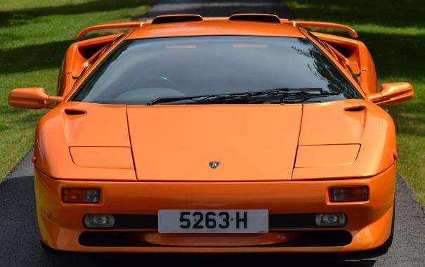 Фото обои оранжевая, ламбо, lamborghini, вид спереди, diablo, красивая машина, диабло