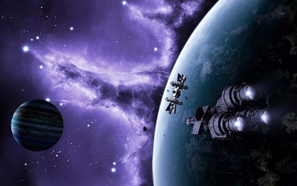 Фото обои космос, корабли, far haven