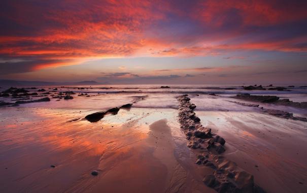 Фото обои море, пляж, небо, океан