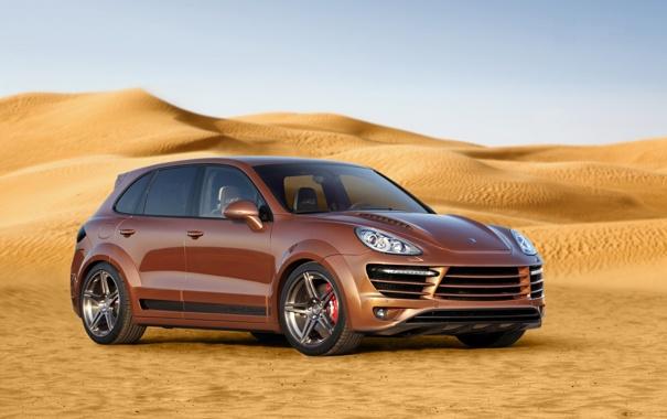Фото обои пустыня, Porsche, порше, пески, Cayenne, кайен, Vantage 2