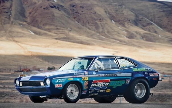 Фото обои машина, горы, ford, драгстер, pinto