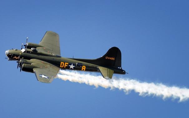 Фото обои небо, самолёт, b17