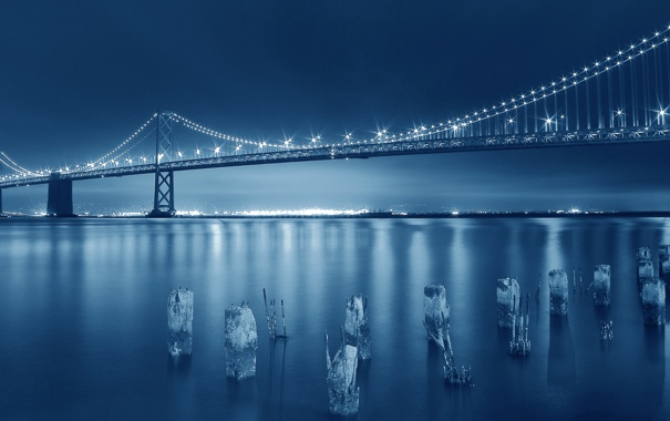 Фото обои Bay, Attractive, Amazing, San Francisco, Bridge, Blue, Capture