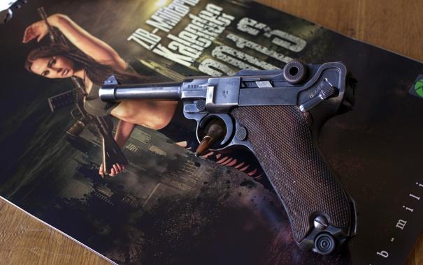 Фото обои пистолет, оружие, Luger