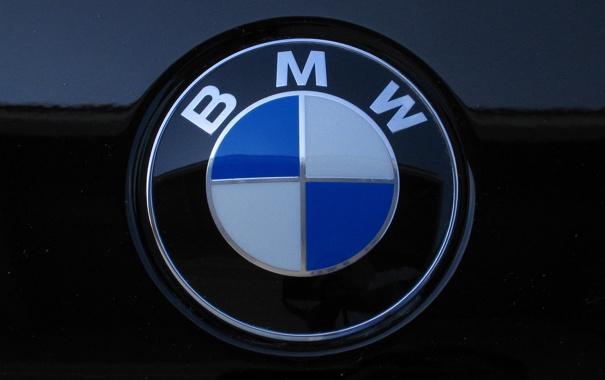 Фото обои BMW, крупным планом, эмблема